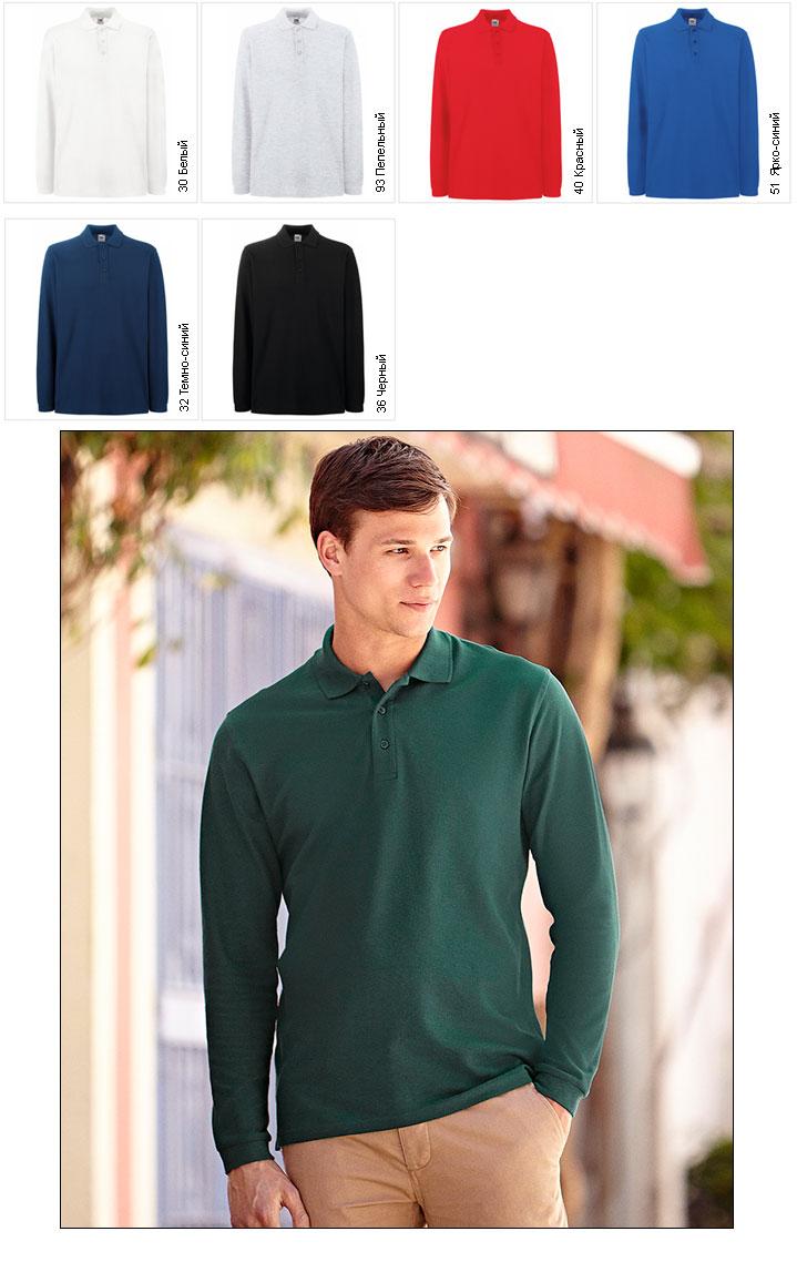 9e52eeb0977a Рубашки поло с длинным рукавом мужское футболка поло Fruit of the ...